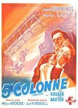 """Affiche du film """"La Cinquième colonne"""""""